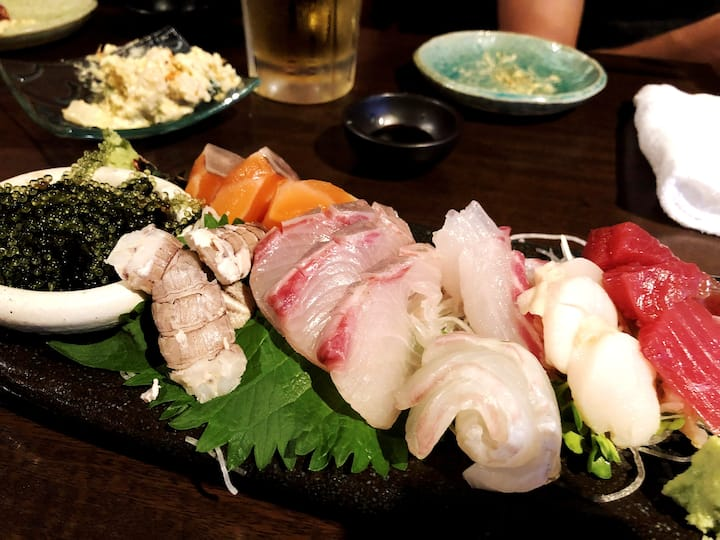 Fresh sashimi - perfect with beer!