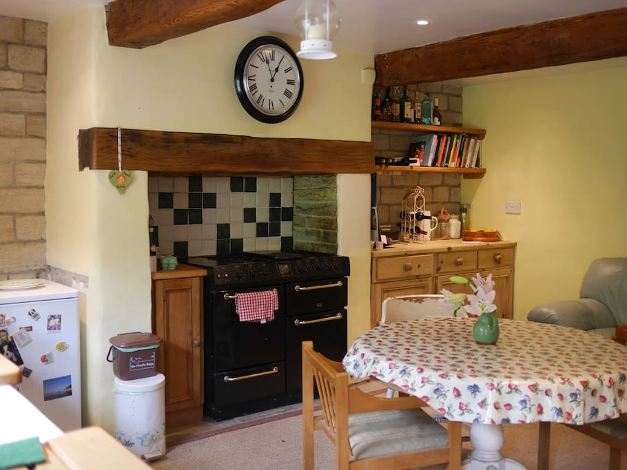 A large homely  kitchen with a range master