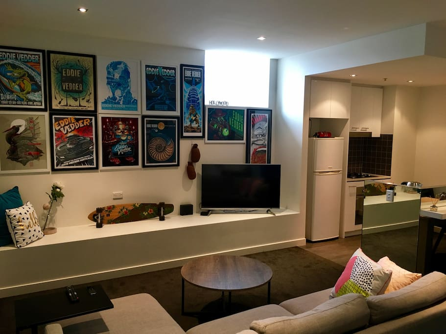 Living area with Smart Apple TV