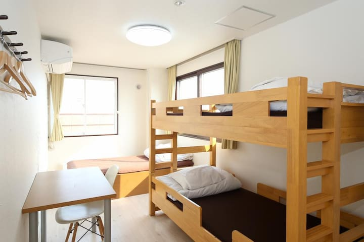 Triple room for LCC users (shared bathroom)