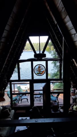 Master-bedroom/loft-view of the lake.