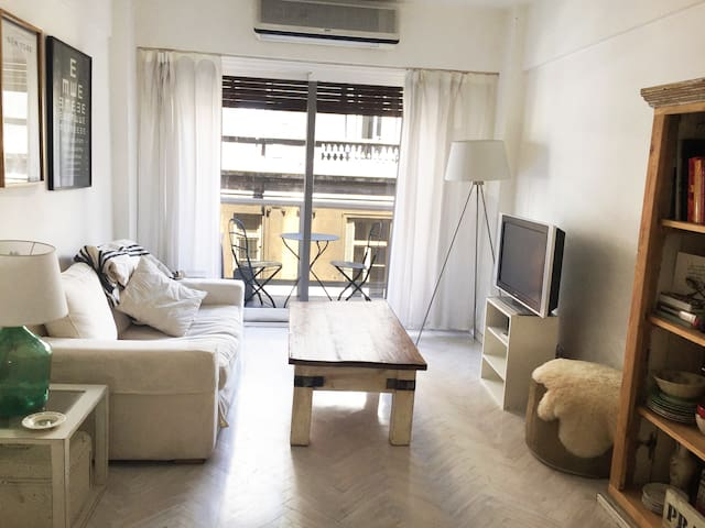 One bedroom & living-room at the best of Recoleta