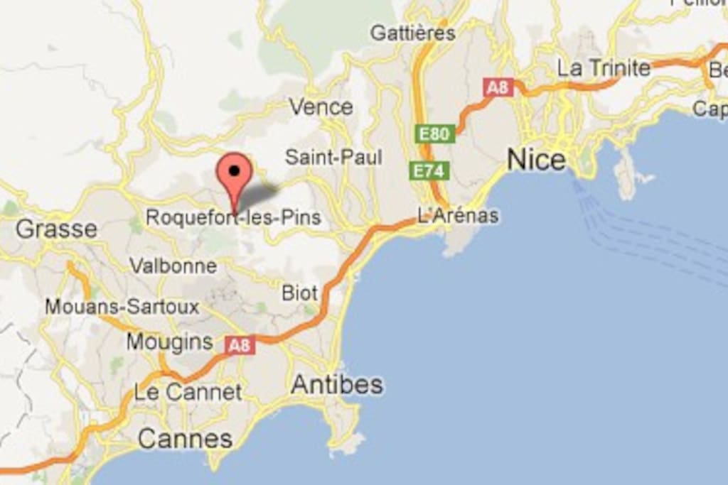 A 20 min de Nice, Cannes, Grasse et Antibes