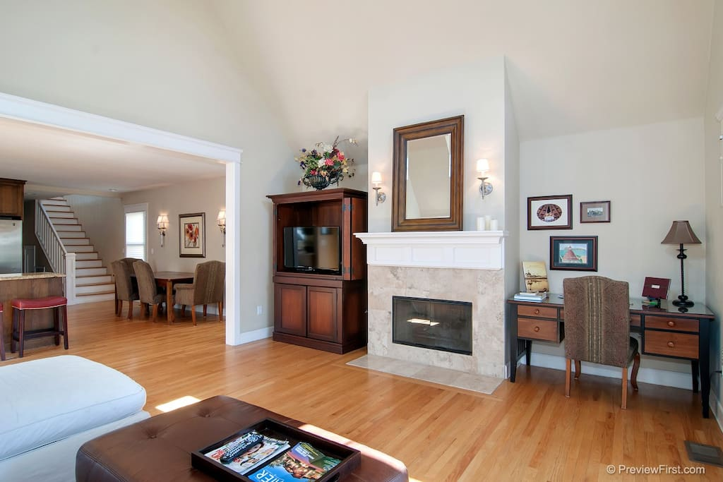 Plenty of space to share the living room, enjoy a fire or watch TV