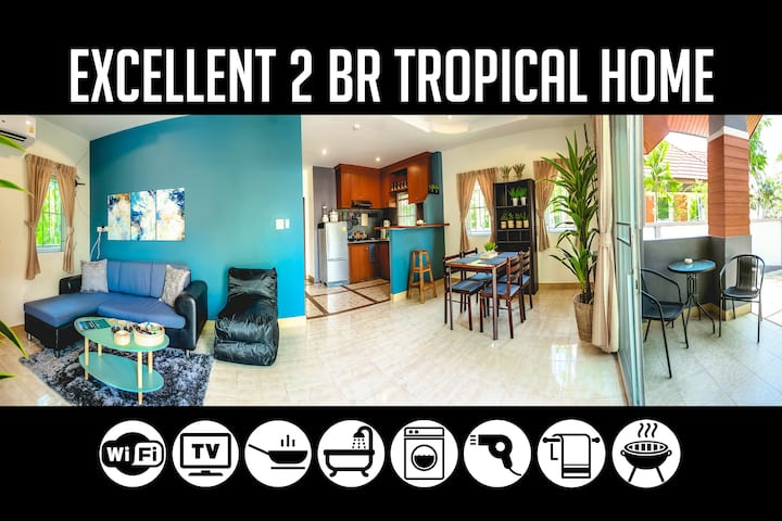 2BR Tropical Home in Bang-Tao, Sleeps 4-5