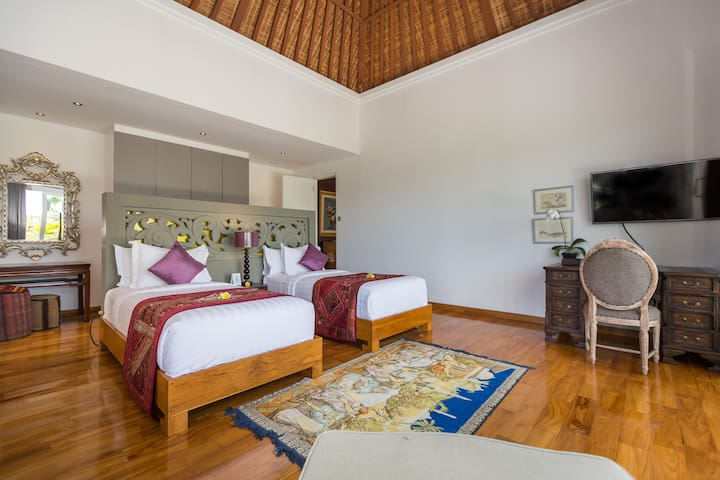 The twin bedroom located in the second floor