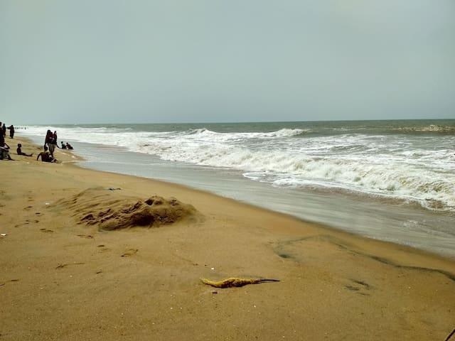 Mesmerising waves of Puri sea close to my house.