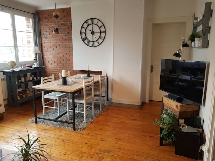 Bel appartement de 70m2 plein centre ville.