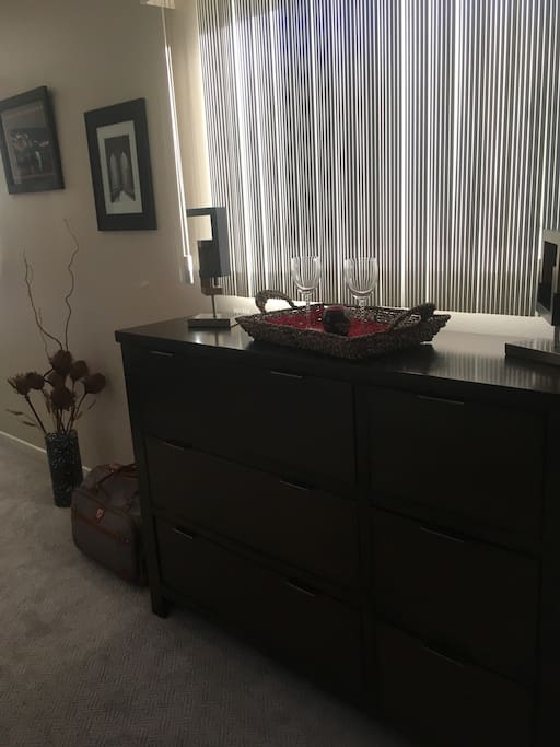 Open dresser, ready for your clothing!