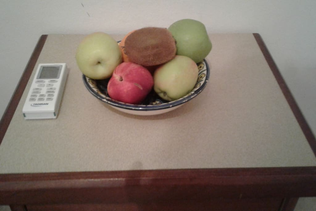 Fresh fruits will wate for you in your room