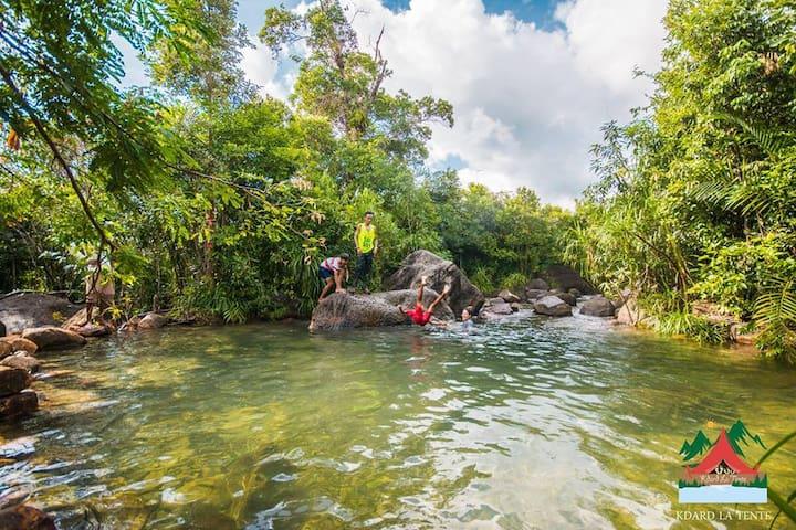 Campsite by the ocean & natural pool (free pickup) - Krong Kampot - Teltta