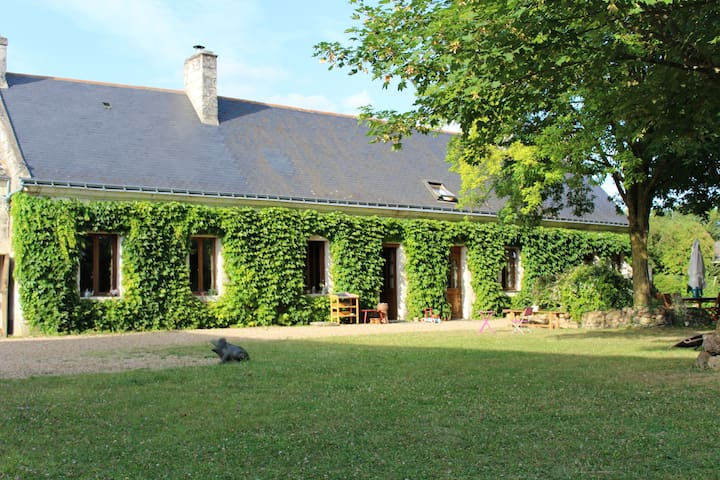 Gîte avec piscine, 6 à 12 personnes proche Saumur