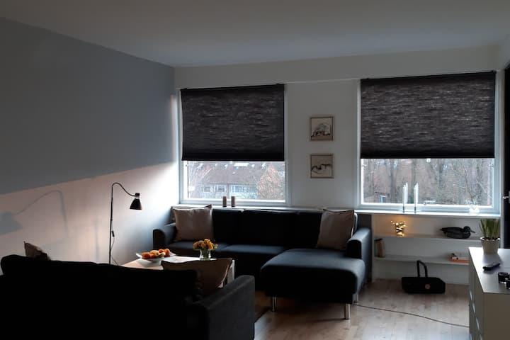 Skøn lejlighed midt i Lyngby centrum med udsigt.
