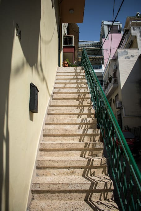 Stairs to the main entrance of the apartment