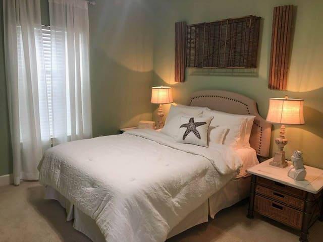 Bedroom #3, upstairs, queen bed.