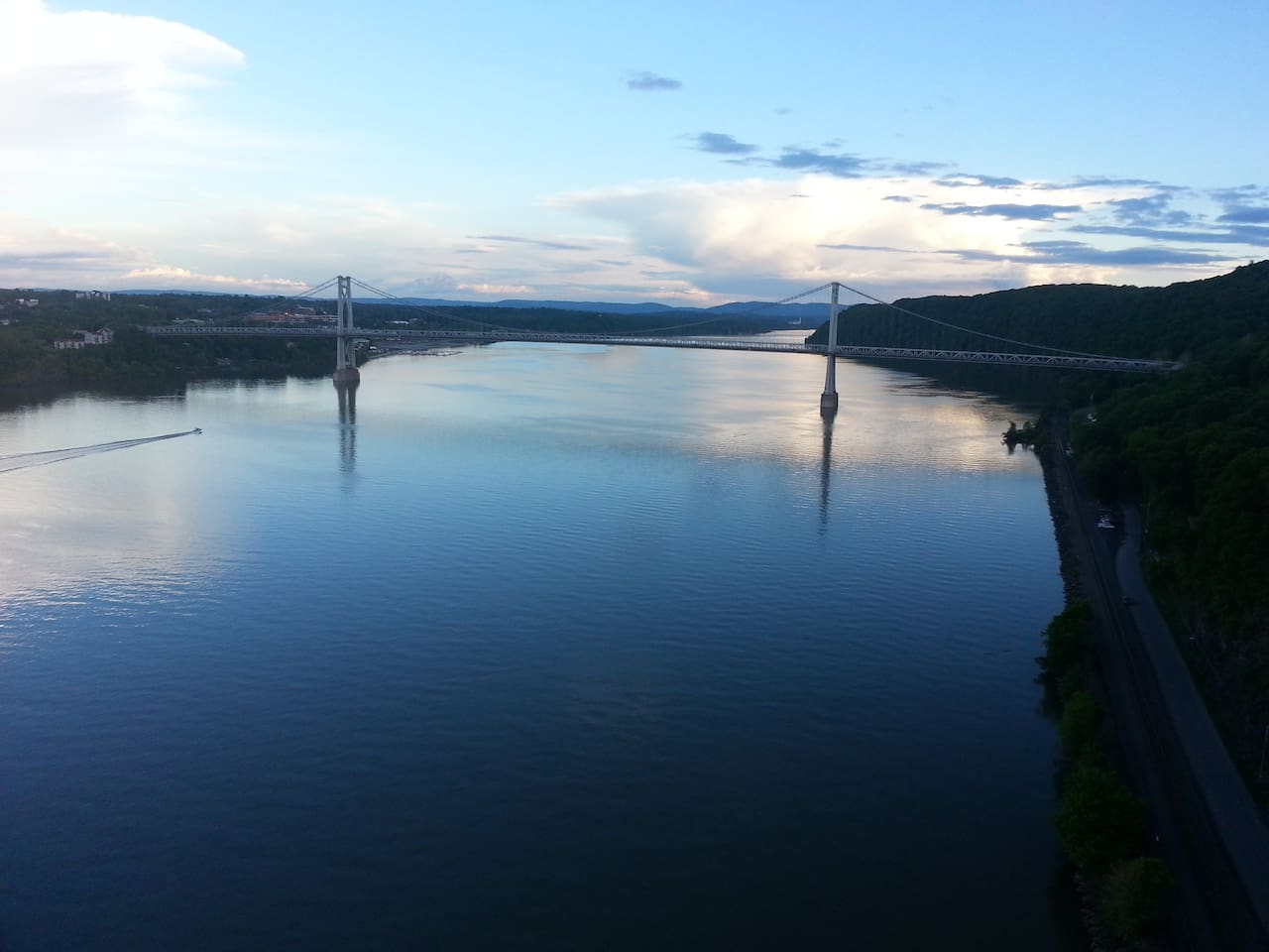 Scenic Walkway Bridge over the beautiful Hudson River, a must visiting place, only 5 minutes walk from our house.