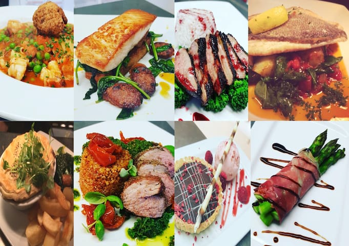 Why not let Rocky, our chef, spoil you, with some really great food.