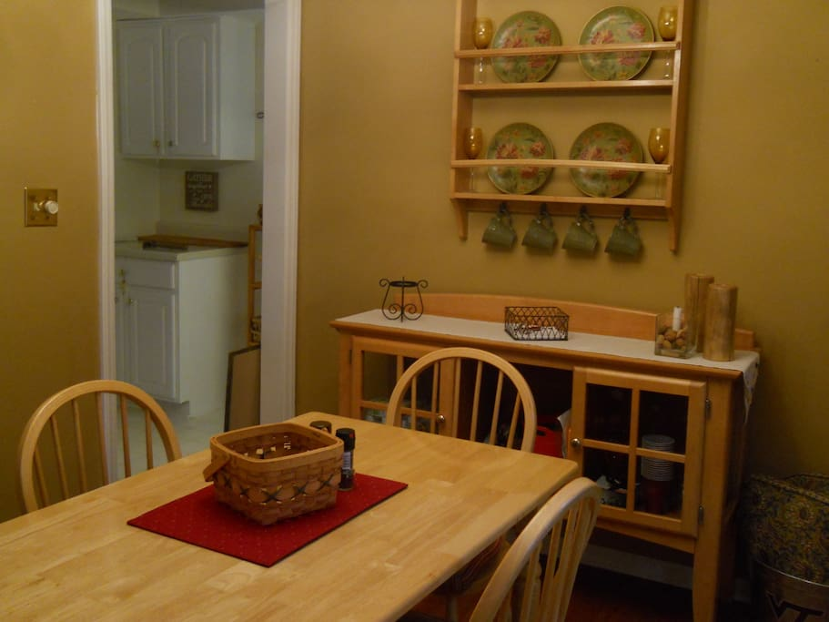 Separate dining area off kitchen.