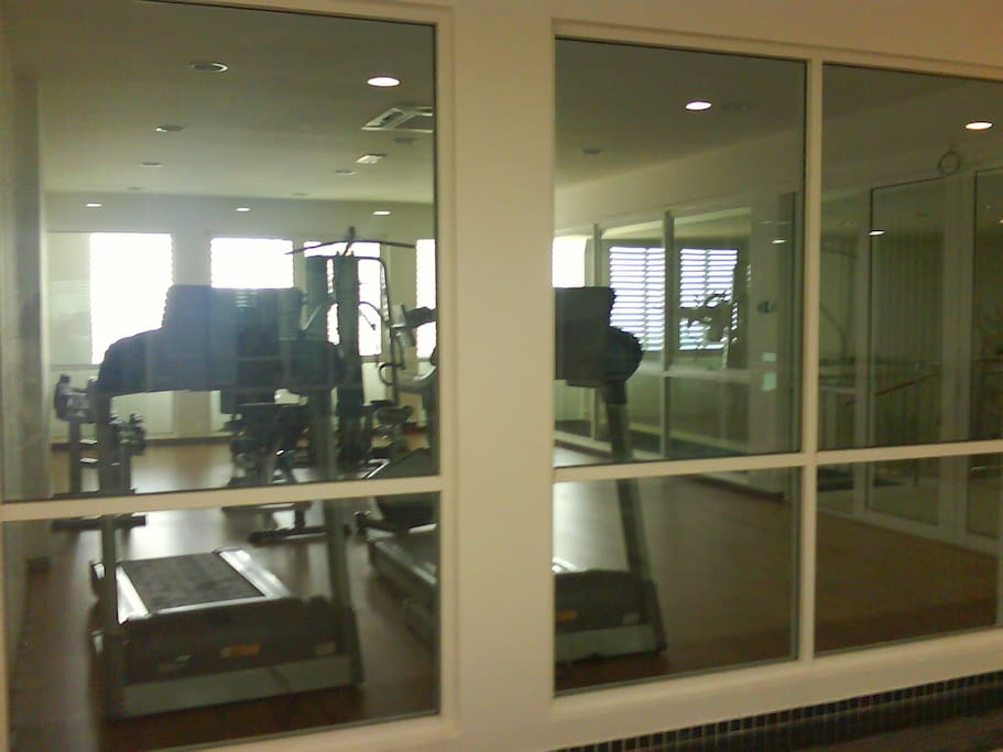 Gym equipments at Fitness Room