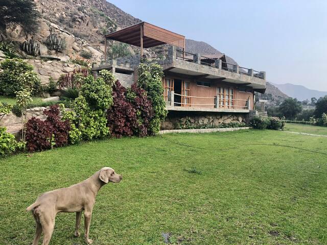 Casa 1, la chacra Santa Eulalia, Sol y Río