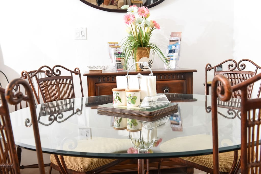 Dine in elegance in an area  with modern and traditional touches