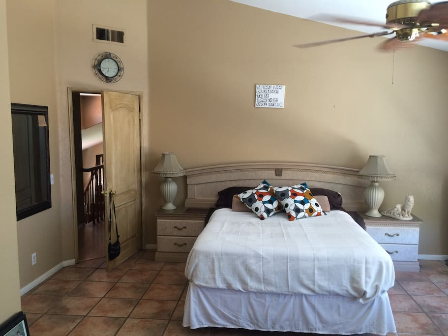Master bedroom with full bath