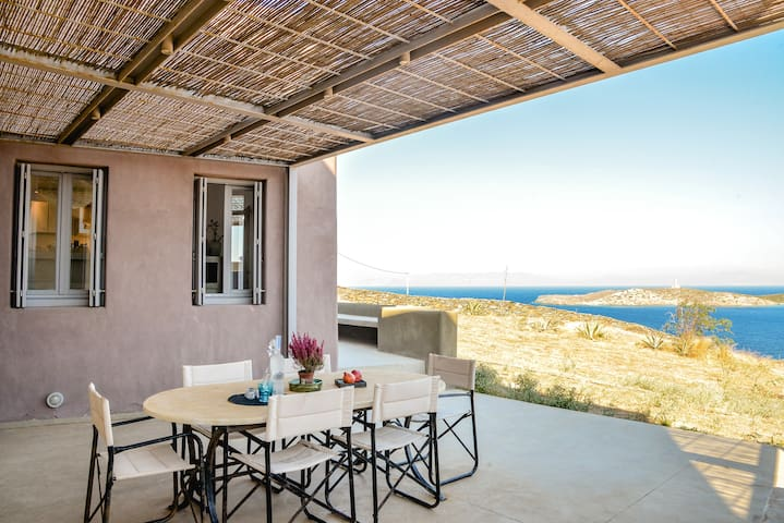 Modern seafront villa & 3 independent guesthouses