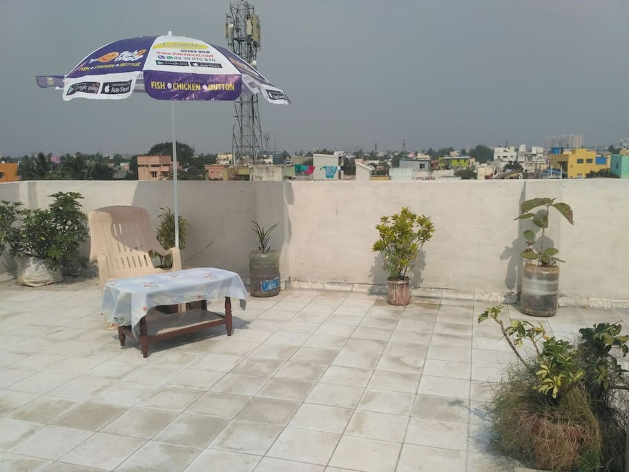 Roof Garden with free of cost