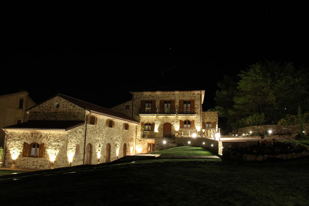 country house by night