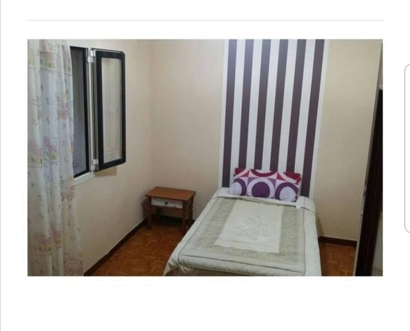 Habitación limpia,acogedora en ambiente tranquilo
