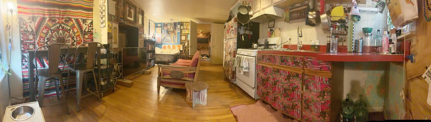 Beautiful Bohemian artsy lower level Apartment