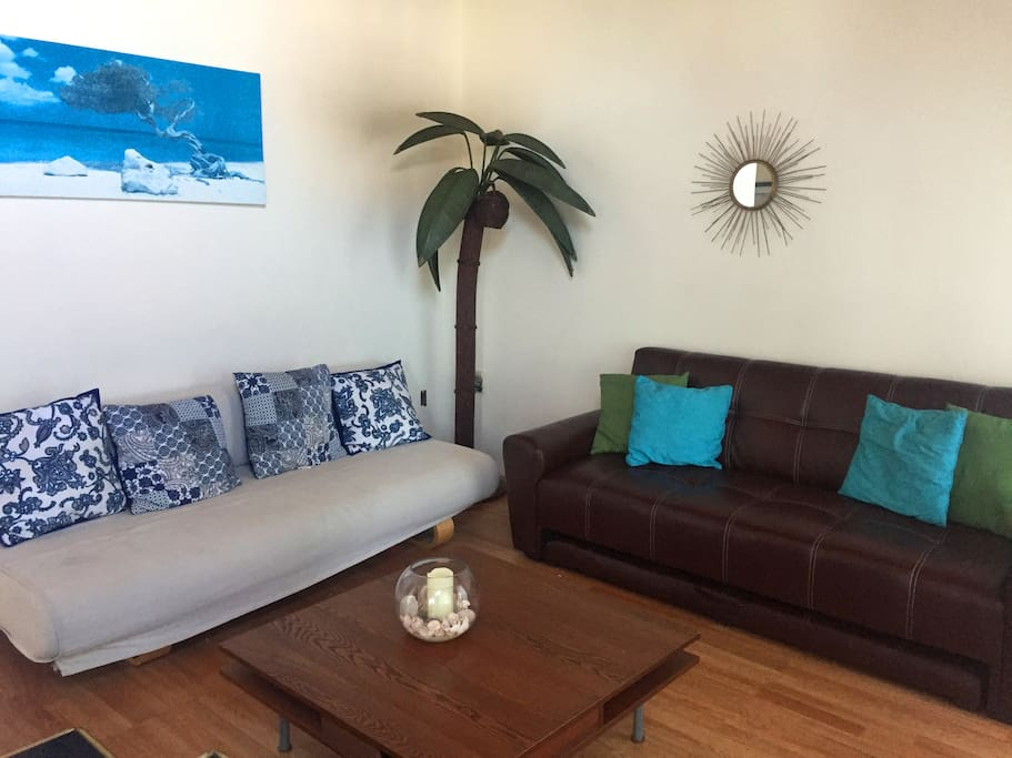 Living Room with a view of the beach