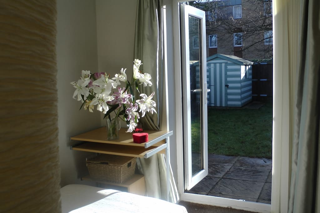 Your room, with lovely views to the garden