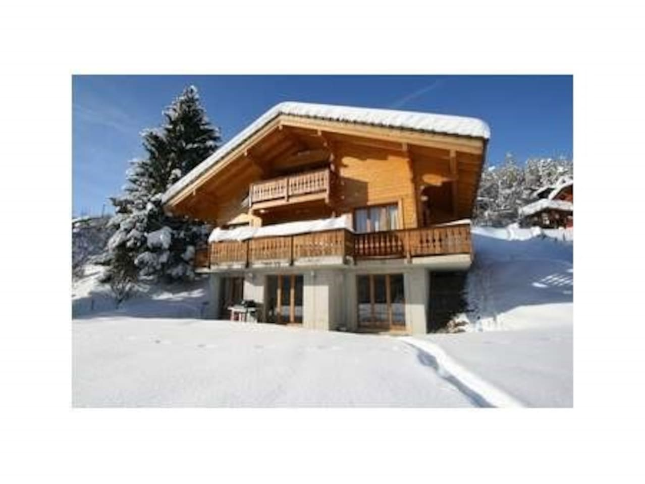 Chalet Rose Blanche - 2 bedroom + 2 bathrooms, kitchen, dining/sitting room (ground floor apartment)