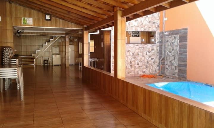 Recanto Beija Flor - Área de lazer e hospedagem