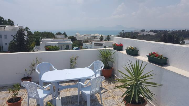 Bel Appartement avec une terasse panoramique