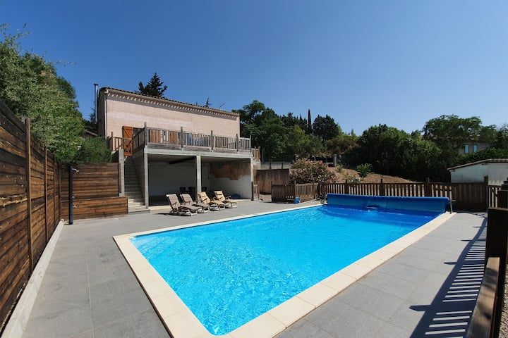 Secluded Villa in Félines with Private Pool, Nice Views & Close to Town Centre