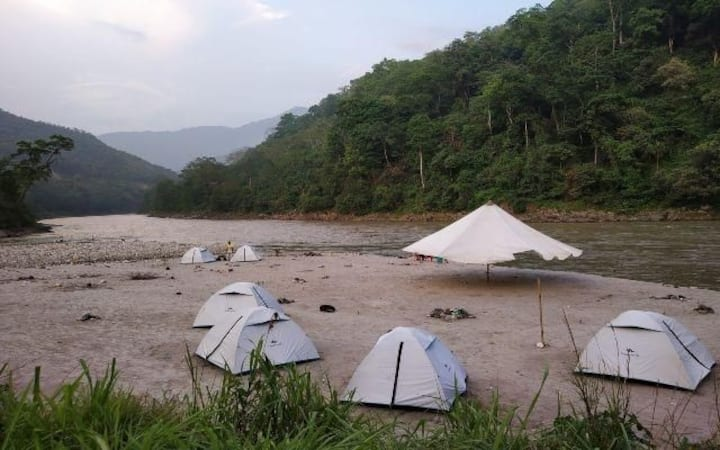 Camp in Fursat by Teesta at Triveni | BBQ | 🌠🏞️