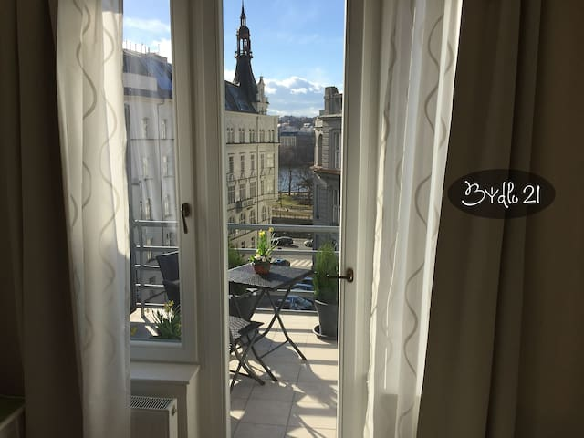Bydlo21 - stunning view, top floor studio+terrace - Prag