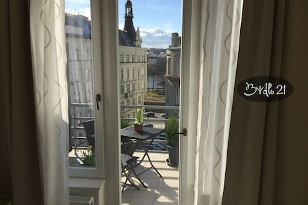Bydlo21 - stunning view, top floor studio+terrace - Praga - Pis