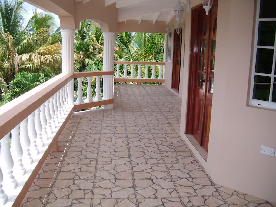Spacious front covered veranda