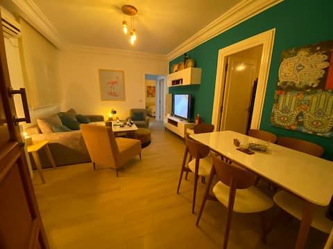 Spazioso appartamento di lusso a 3 minuti dalla spiaggia