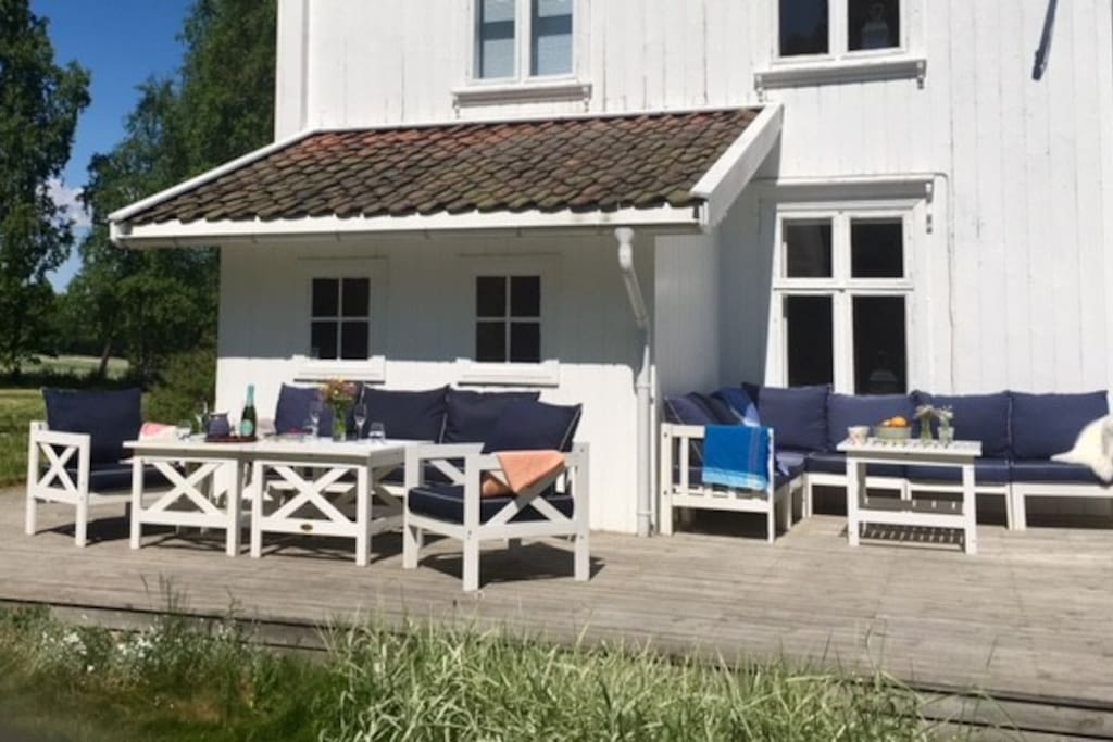 A comfortable outdoor terrasse for relaxing summer days