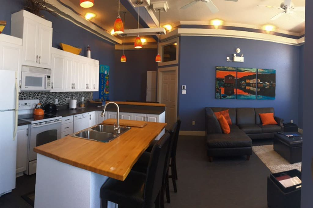 View of the Kitchen and Living area