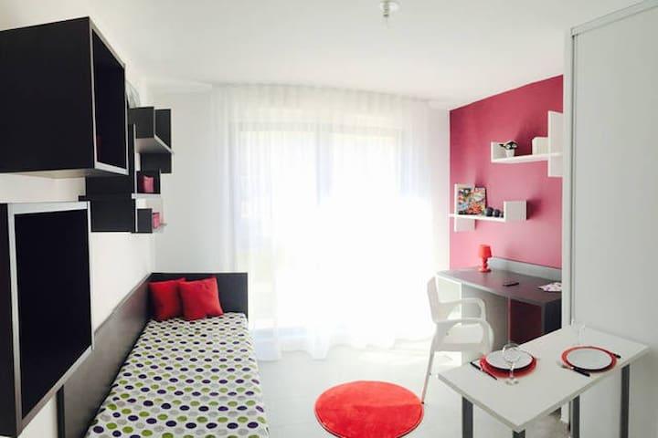 Studio moderne et tout équipé N°302 - Aix-en-Provence - Apto. en complejo residencial