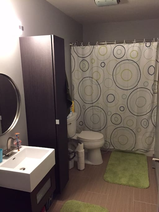 bathroom, shared with guests across the hall (if booked)
