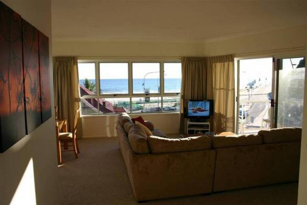 Loungeroom looking over beach