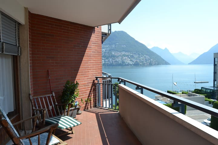 Riva Paradiso Apartment over Lugano Lake