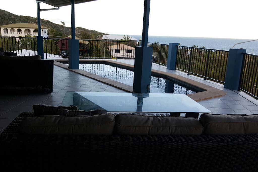 Relax by the pool on the deck