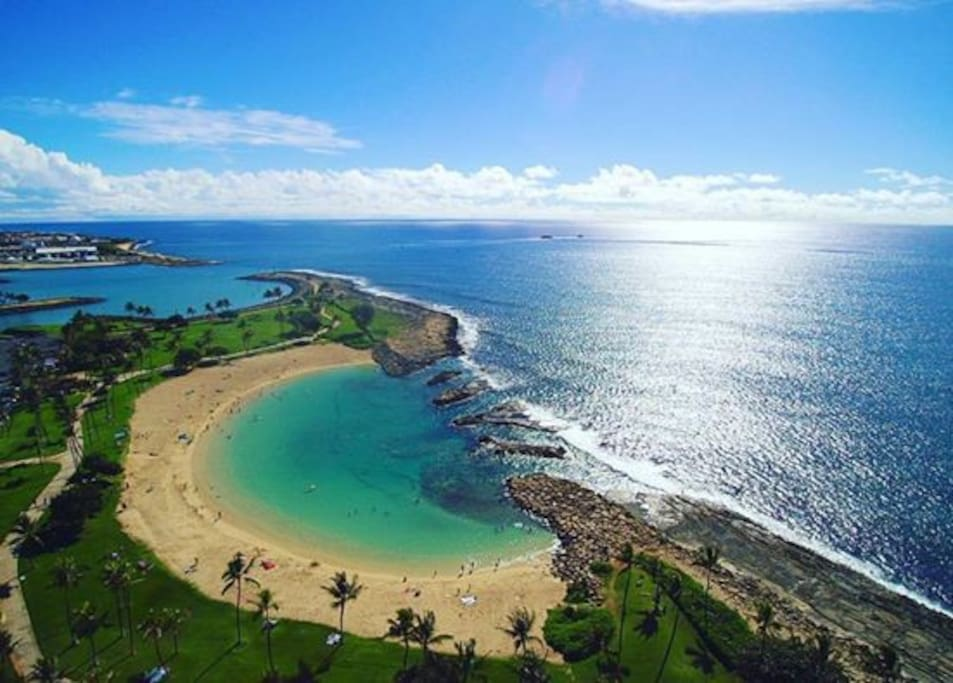 All the four lagoons at the Koolina Resort  are open to public